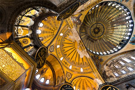 Ceiling, Hagia Sophia, Istanbul, Turkey Stock Photo - Rights-Managed, Code: 700-05609470