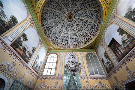 Ceiling in Room of Imperial Harem, Topkapi Palace, Istanbul, Turkey Stock Photo - Rights-Managed, Code: 700-05609506
