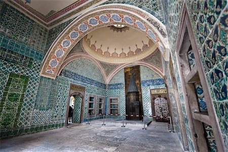 decorative - Room Inside Imperial Harem, Topkapi Palace, Istanbul, Turkey Stock Photo - Rights-Managed, Code: 700-05609507