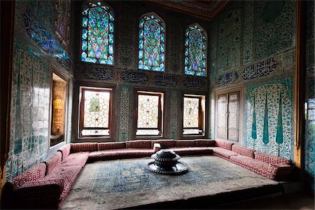 Sitting Area in Imperial Harem, Topkapi Palace, Istanbul, Turkey Stock Photo - Rights-Managed, Code: 700-05609509