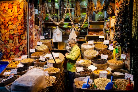 Vendor Stand at Spice Bazaar, Eminonu District, Istanbul, Turkey Stock Photo - Rights-Managed, Code: 700-05609515