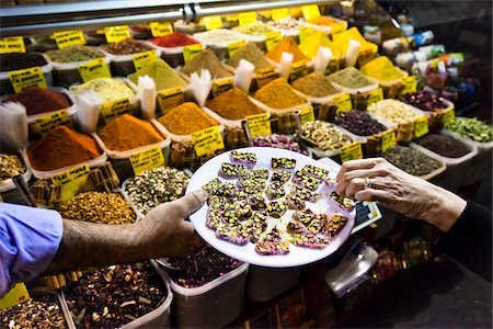 Taking Sample, Spice Bazaar, Istanbul, Turkey Stock Photo - Rights-Managed, Code: 700-05609517
