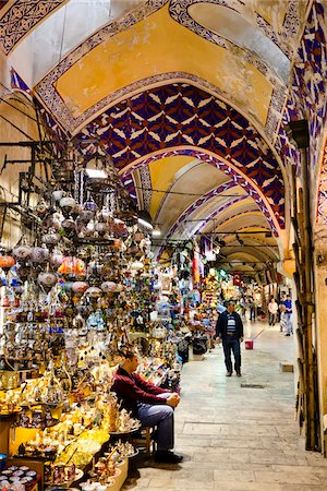 The Grand Bazaar, Eminonu District, Istanbul, Turkey Stock Photo - Rights-Managed, Code: 700-05609519