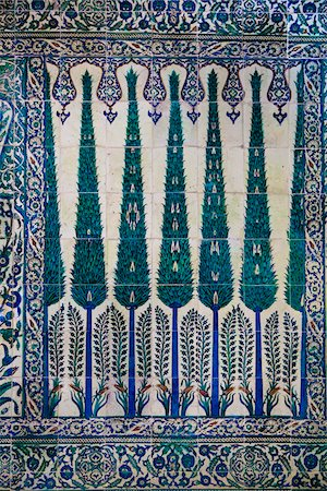 Close-Up of Tiles, Imperial Harem, Topkapi Palace, Istanbul, Turkey Stock Photo - Rights-Managed, Code: 700-05609512