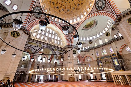 decorative - Suleymaniye Mosque, Istanbul, Turkey Stock Photo - Rights-Managed, Code: 700-05609526