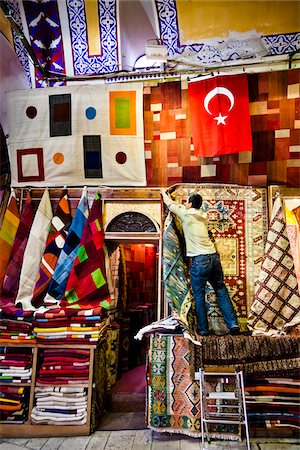 Carpet Seller, Grand Bazaar, Istanbul, Turkey Stock Photo - Rights-Managed, Code: 700-05609520