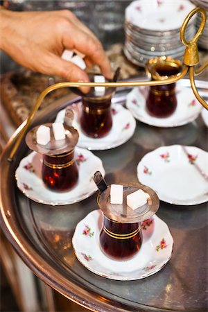 Turkish Tea, Grand Bazaar, Istanbul, Turkey Stock Photo - Rights-Managed, Code: 700-05609521