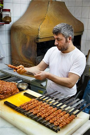 Kebab Vendor, Grand Bazaar, Istanbul, Turkey Stock Photo - Rights-Managed, Code: 700-05609522