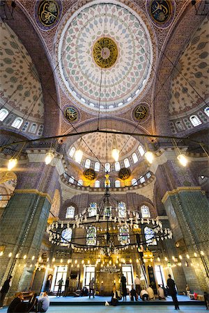 Interior of Yeni Camii Mosque, Eminonu, Istanbul, Turkey Stock Photo - Rights-Managed, Code: 700-05609535