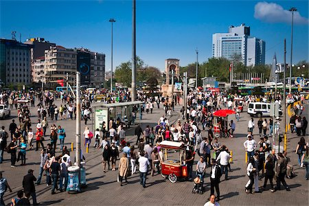 square - Taksim Square, Beyoglu District, Istanbul, Turkey Stock Photo - Rights-Managed, Code: 700-05609545