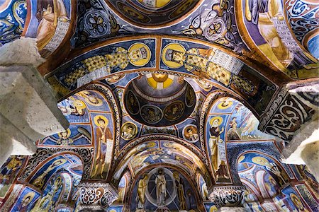Ceiling of Dark Church, Goreme Open-Air Museum, Cappadocia, Turkey Stock Photo - Rights-Managed, Code: 700-05609584
