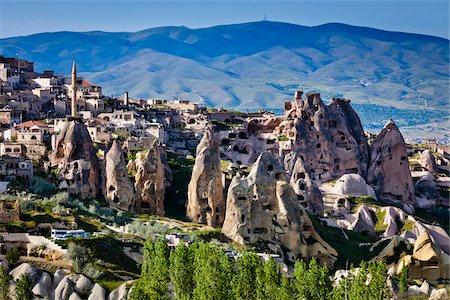Rock Formation Dwellings, Pigeon Valley, Cappadocia, Turkey Stock Photo - Rights-Managed, Code: 700-05609594