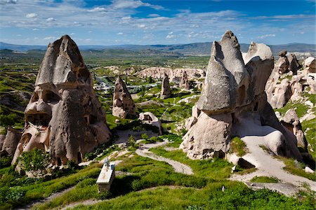 Rock Formations and Dwellings, Uchisar, Cappadocia, Turkey Stock Photo - Rights-Managed, Code: 700-05609592