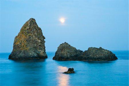 Sea Stacks, Aci Trezza, Province of Catania, Sicily, Italy Stock Photo - Rights-Managed, Code: 700-05609648