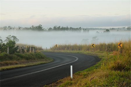 queensland - Empty Road, Atherton Tableland, Queensland, Australia Stock Photo - Rights-Managed, Code: 700-05609692