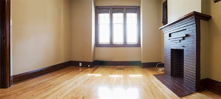 floor - View of Empty Living Room Stock Photo - Rights-Managed, Code: 700-05609759