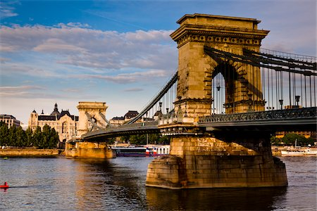 Szechenyi Chain Bridge, Budapest, Hungary Stock Photo - Rights-Managed, Code: 700-05609810