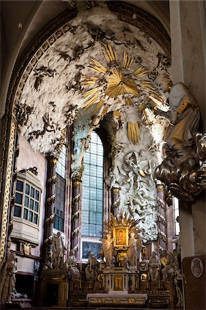 Interior of St. Michael's Church, Vienna, Austria Stock Photo - Rights-Managed, Code: 700-05609876