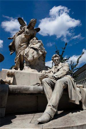 Statue of Ferdinand Raimund, Vienna, Austria Stock Photo - Rights-Managed, Code: 700-05609908