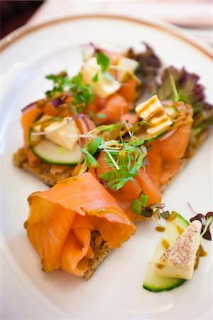 smoked - Smoked Salmon, Cafe Sacher, Vienna, Austria Stock Photo - Rights-Managed, Code: 700-05609936