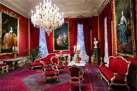 red chair - Interior of Schonbrunn Palace, Vienna, Austria Stock Photo - Rights-Managed, Code: 700-05609958