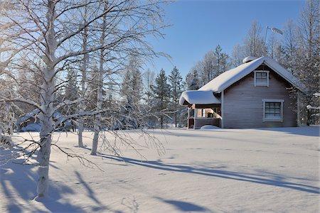 Winter Scene, Kuusamo, Northern Ostrobothnia, Finland Stock Photo - Rights-Managed, Code: 700-05609964