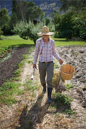 farmhand (female) - Farmer on Organic Farm Stock Photo - Rights-Managed, Code: 700-05602724