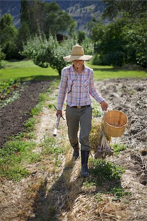 farmhand (female) - Farmer on Organic Farm Stock Photo - Rights-Managed, Code: 700-05602724