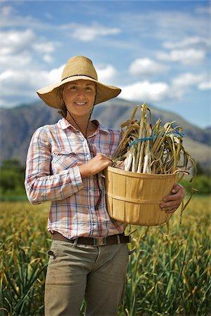 farmhand (female) - Portrait of Farmer Working on Organic Farm Stock Photo - Rights-Managed, Code: 700-05602727