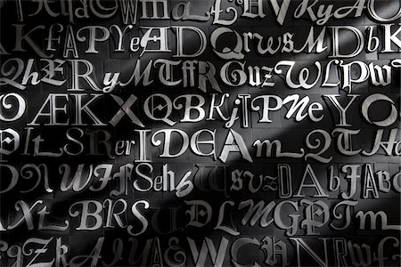 Metal Letterpress Stock Photo - Rights-Managed, Code: 700-05641665