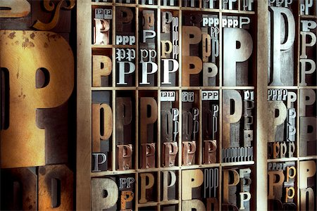 print - Upper and Lower Case Letterpresses Stock Photo - Rights-Managed, Code: 700-05641680