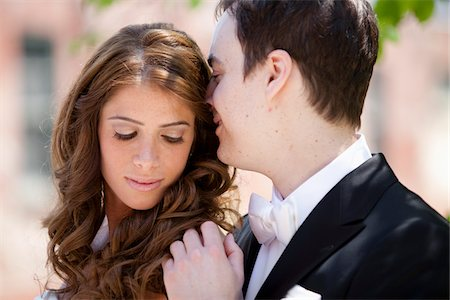 Close-Up of Bride and Groom Stock Photo - Rights-Managed, Code: 700-05641805