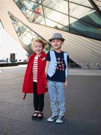 Kids Outside Royal Ontario Museum, Toronto, Ontario, Canada Stock Photo - Rights-Managed, Code: 700-05641846
