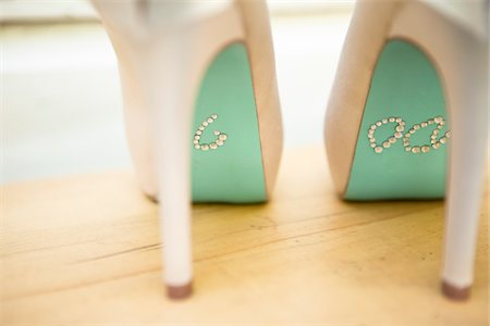 """""""I Do"""" in Rhinestones on Bottom of Shoes Stock Photo - Rights-Managed, Code: 700-05641981"""