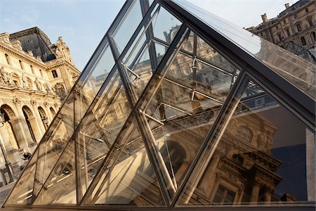 The Louvre Pyramid, Paris, France Stock Photo - Rights-Managed, Code: 700-05642092