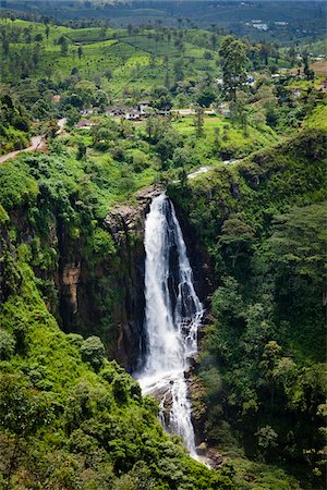 Devon Falls, Nuwara Eliya District, Central Province, Sri Lanka Stock Photo - Rights-Managed, Code: 700-05642227