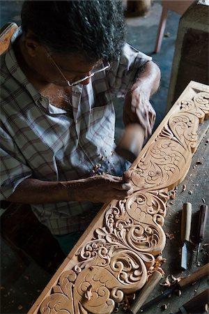 Wood Carving, Naula, Central Province, Sri Lanka Stock Photo - Rights-Managed, Code: 700-05642238