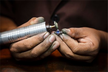 Jewellery Maker Filing Ring, Kandy, Central Province, Sri Lanka Stock Photo - Rights-Managed, Code: 700-05642243