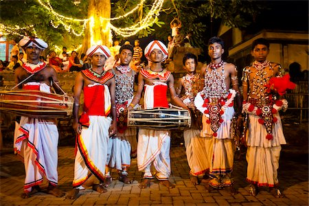 Portrait of Drummers, Esala Perahera Festival, Kandy, Sri Lanka Stock Photo - Rights-Managed, Code: 700-05642313
