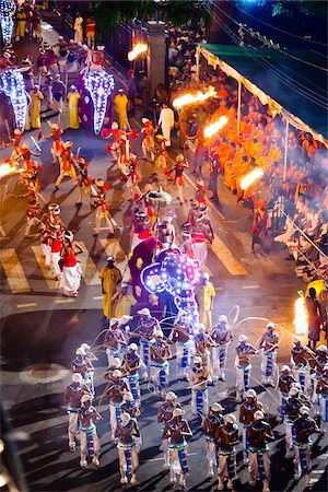 Procession of Performers, Esala Perahera Festival, Kandy, Sri Lanka Stock Photo - Rights-Managed, Code: 700-05642328