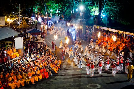 Procession of Dancers, Esala Perahera Festival, Kandy, Sri Lanka Stock Photo - Rights-Managed, Code: 700-05642321