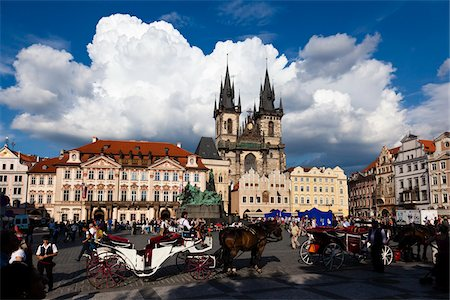 Church of Our Lady before Tyn and Town Square, Old Town, Prague, Czech Republic Stock Photo - Rights-Managed, Code: 700-05642385