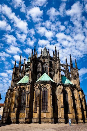 St. Vitus Cathedral, Prague Castle, Prague, Czech Republic Stock Photo - Rights-Managed, Code: 700-05642431