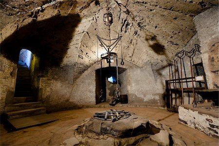 restrained - Torture Chamber, Golden Lane, Prague, Czech Republic Stock Photo - Rights-Managed, Code: 700-05642447