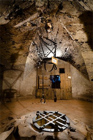 restrained - Torture Chamber, Golden Lane, Prague Castle, Prague, Czech Republic Stock Photo - Rights-Managed, Code: 700-05642448