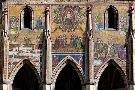 Detail of Artwork Above Archways, St. Vitus Cathedral, Prague Castle, Prague, Czech Republic Stock Photo - Rights-Managed, Code: 700-05642441