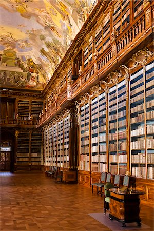 Philosophical Hall, Strahov Monastery, Strahov, Prague, Czech Republic Stock Photo - Rights-Managed, Code: 700-05642456