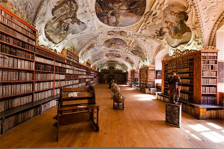 Philosophical Hall, Strahov Monastery, Prague Castle District, Prague, Czech Republic Stock Photo - Rights-Managed, Code: 700-05642457