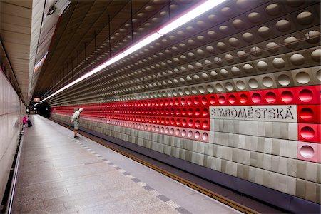 spotted - Staromestska Metro Station, Prague, Czech Republic Stock Photo - Rights-Managed, Code: 700-05642464