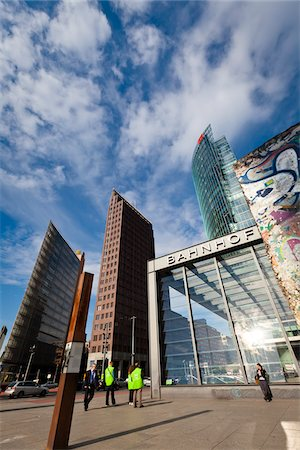 square - Edge of Berlin Wall and Sony Centre, Potsdamer Platz, Berlin, Germany Stock Photo - Rights-Managed, Code: 700-05642469